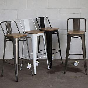 Metal Breakfast Bar Stools by Set Of 4 Metal Industrial Bar Stool Breakfast Kitchen
