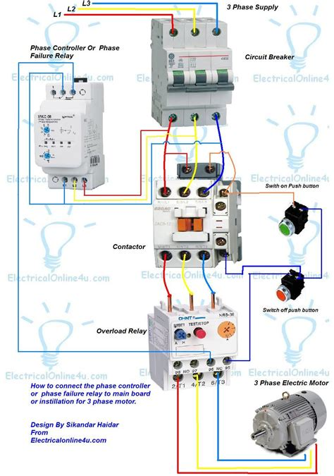 phase controller wiring phase failure relay diagram electrical online 4u