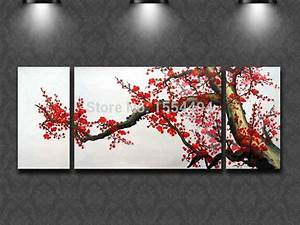Framed hand painted large modern canvas oil painting ...