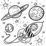 Coloring Planets Space Planet Pages Rocket Stars Drawing Drawings Ship Doodle Easy Printable Coloringstar sketch template