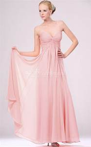 a line sweetheart neck long pink chiffon bridesmaid With pink long dress for wedding