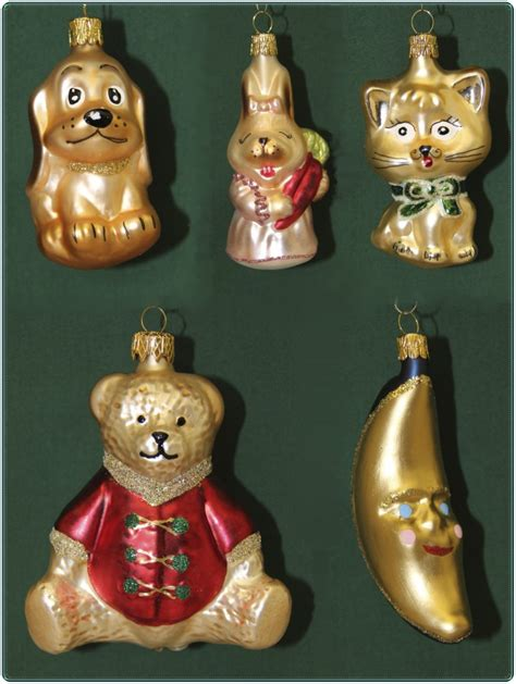 christbaumschmuck weihnachtskugeln figuren aus glas