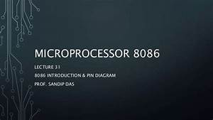 29  8086 Microprocessor Pin Diagram