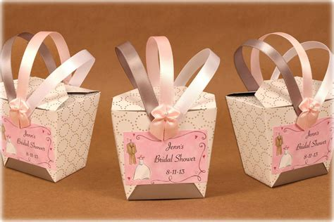 Bridal Shower Favor Chinese Takeout Style Boxes