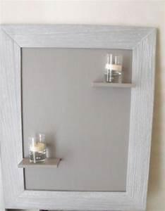 Etagere Pour Cadre Photo : cadre tag re pour bougies cr ation home d co et miroir ~ Premium-room.com Idées de Décoration