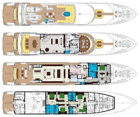 Yacht Plans by Carpe Diem Luxury Yacht Deck Plans Yacht