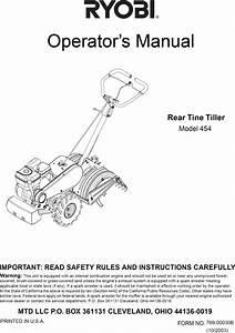 28 Ryobi Tiller Parts Diagram