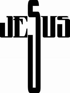 Clipart - Jesus Cross Typography
