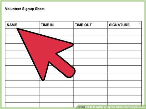 how to make a template in google how to make a signup sheet on docs with pictures