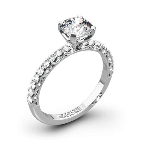 tacori classic crescent scalloped millgrain diamond engagement ring 3054