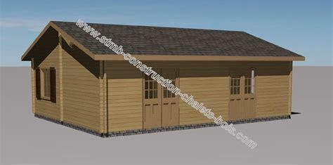 les chalets de jessy chalet en bois habitable toulon de 49 m2 en madriers massifs