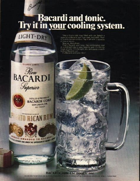 bacardi rum vintage ad cooling system