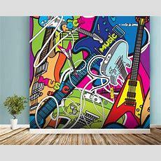 Colourful Music Wallpaper Wall Mural  Wallsauce Usa