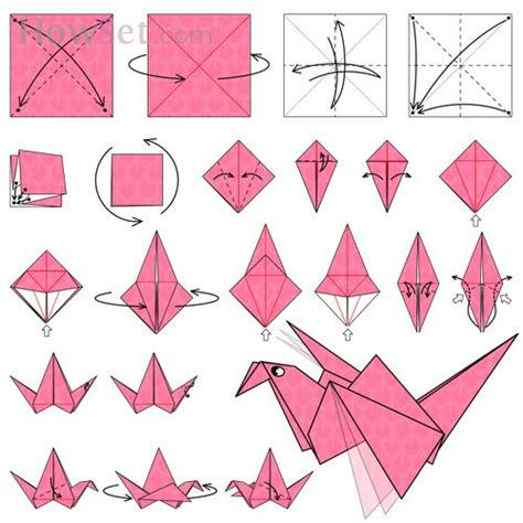 Flapping Bird Animated Origami Instructions How Make