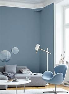Grau Blau Farbe : trend wandgestaltung eleganter grauschleier ~ Markanthonyermac.com Haus und Dekorationen