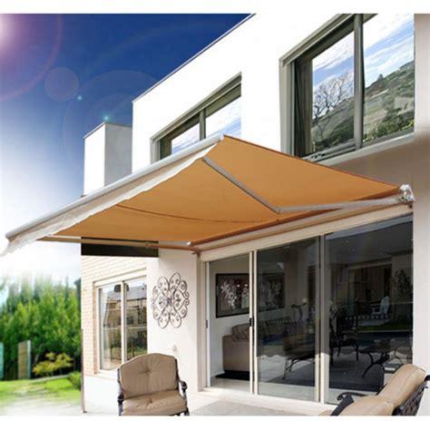 outsunny    ft manual retractable sun shade patio awning walmartcom walmartcom