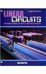 Test Bank For Linear Circuits  Time Domain  Phasor  And