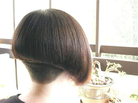 Woman S Clippered Nape Wedge Haircuts