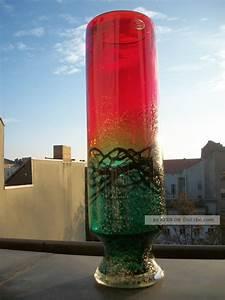 Vase Schwarz Glas : xxl murano glas skulptur vase rot gr n schwarz silber staub etikett 2kg ~ Indierocktalk.com Haus und Dekorationen