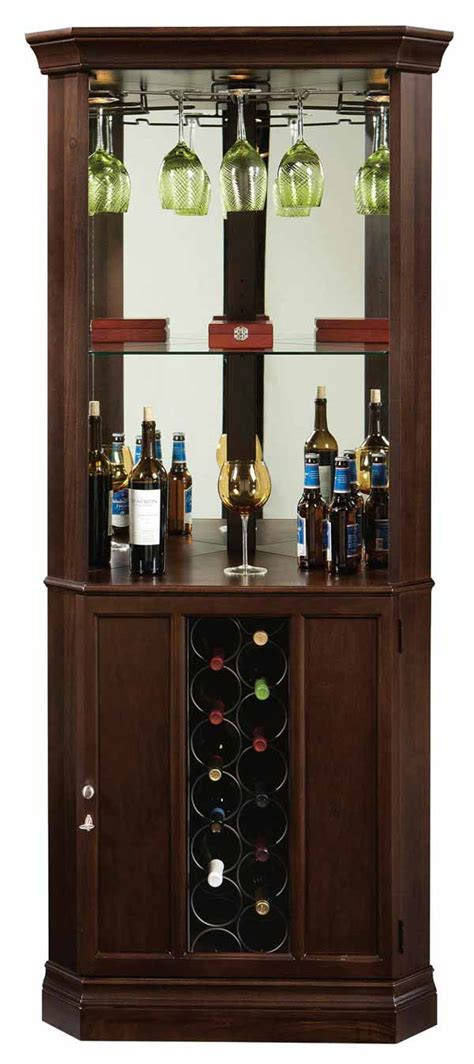 wine and bar cabinet howard miller piedmont iii 690 007 corner wine cabinet