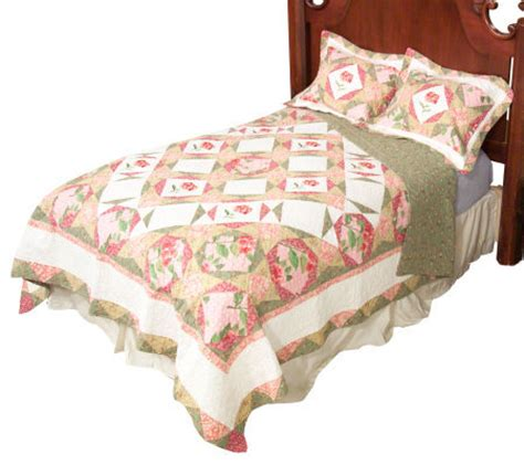 King Size Quilt And Shams by Winterthur Museum Primrose Petals King Size Quilt With 2