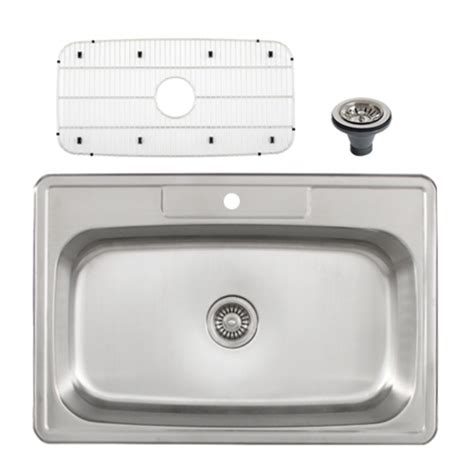 overmount stainless steel sink ticor s994 overmount stainless steel single bowl kitchen