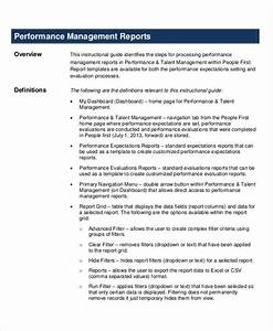 Free 8 Performance Report Examples In Pdf Doc Examples