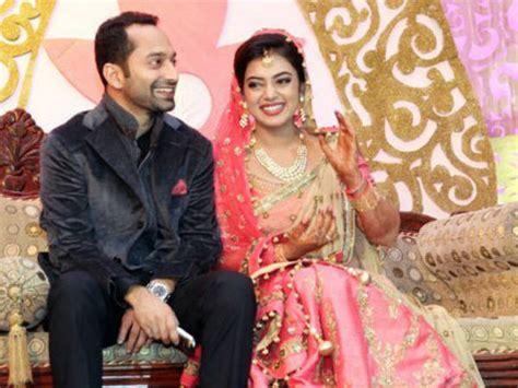 mollywood stars  fahad fazil nazriya nazim wedding