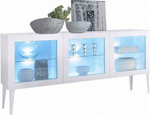 Sideboard Mit Füßen : sideboard mit glaseinsatz zela 3 t rig mit f en breite 184 cm online kaufen otto ~ Indierocktalk.com Haus und Dekorationen