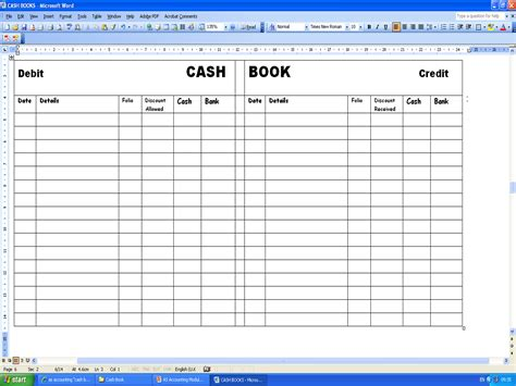 accounting  easy cash book