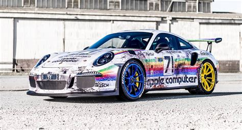 porsche gt3 rs wrap porsche 911 gt3 rs gets le mans inspired 39 apple computer 39 wrap