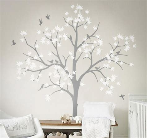 Babyzimmer Wandgestaltung Baum by Large Nursery Wall Decoration White Tree Wall Decals Diy