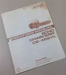 Download Free Software Echo 452 Vl Chainsaw Manual