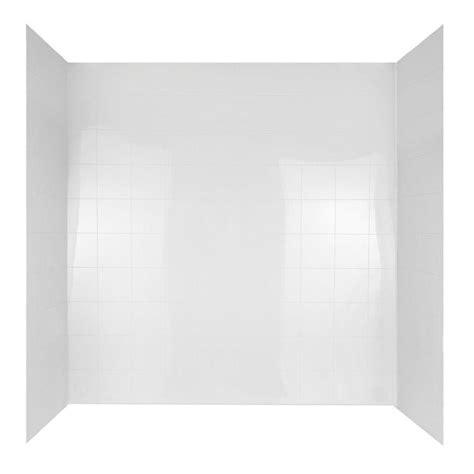 bathtub wall set peerless 60 in x 30 in mirage bathtub wall set in white