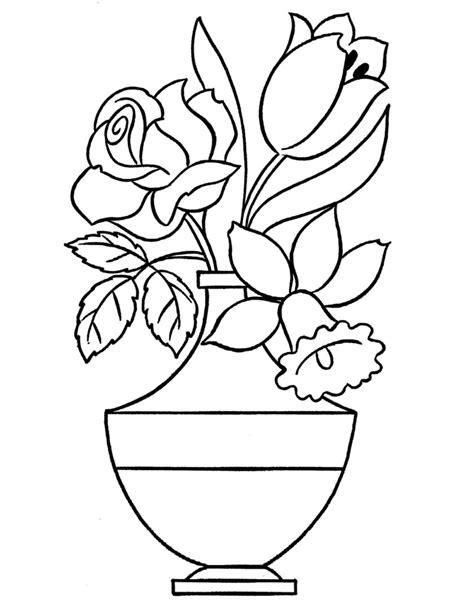 vaso con fiori da colorare 60 disegni vasi di fiori con disegno vaso fiori e di fiori