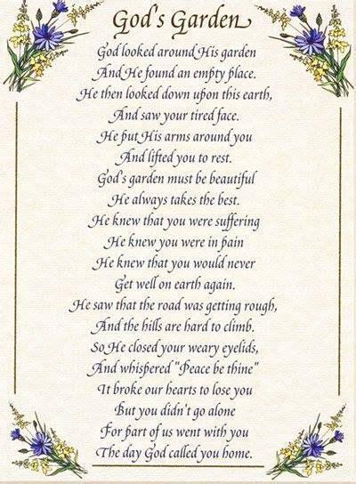 pin  susan devantier  grief funeral poems memorial