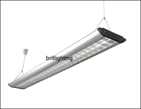 hanging office lighting aluminum grille comercial light t5