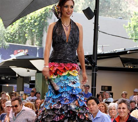 trash fashion show recycling center
