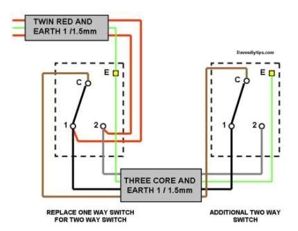 one way lighting circuit modified for two way switching dave s diy tips