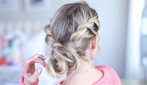 twist back bun cute hairstyles