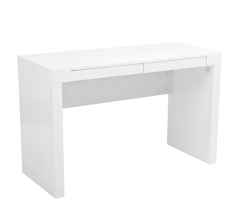 bureau high modern high gloss lacquer office desk estyle 25 in white
