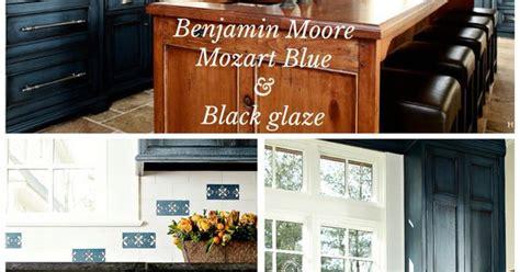 benjamin moore mozart blue  black glaze