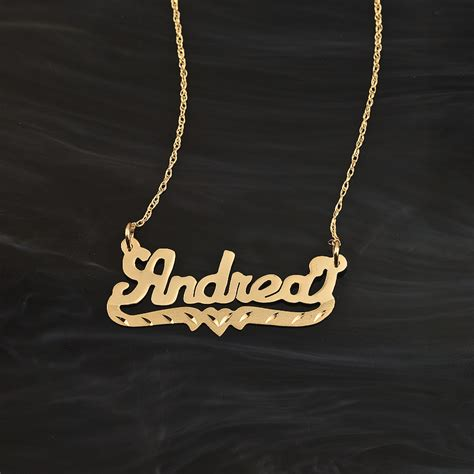 """Name Necklace Wbeading """"andrea"""""""