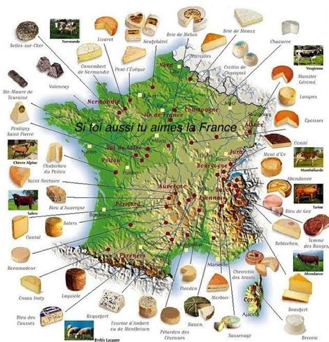 Carte Des Fromages De à Imprimer by Cheese Map Where They Are Made Travel