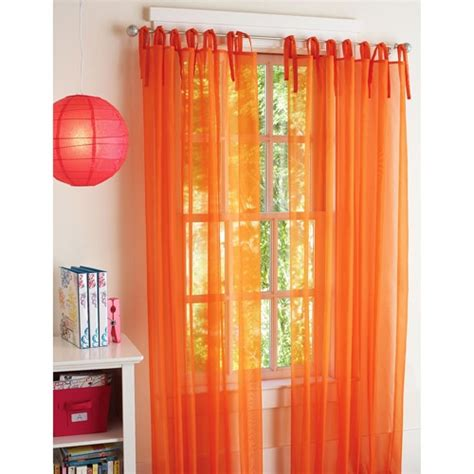 pink sheer curtains walmart 17 best ideas about orange curtains for the home on