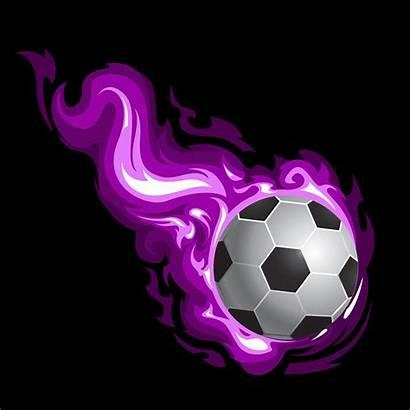 Soccer Purple Flames Sports Curtains Theme Sport
