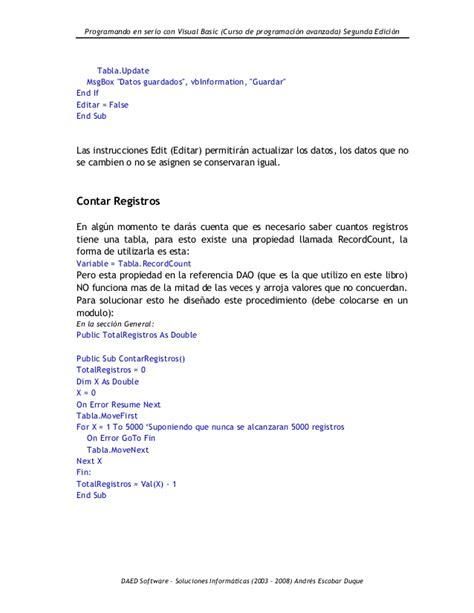 On Error Resume Next Vb Net 2008 by Programando En Serio Con Visual Basic