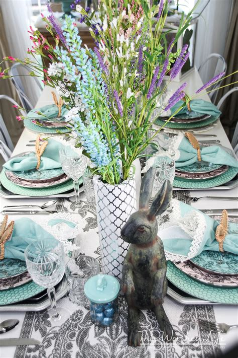Elegant Easter Tablescape {Spring Party Idea} - This ...