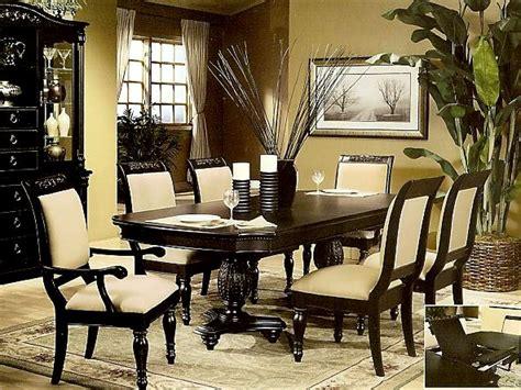 Cottage Dining Room Set, Black Pedestal Dining Room Table