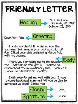 friendly letter freebie writing  letter friendly